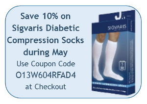 Save 10% on Sigvaris Diabetic Compression Socks during May