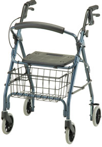 Photo of a four wheeled walker