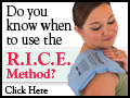 Do you know when to use the RICE Method?